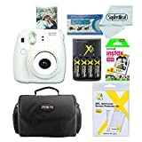 Fujifilm Instax Mini 8 Instant Film Camera With Fujifilm Instax Mini Instant Film Twin Pack (20 Sheets), Compact Bag Case, Batteries and Battery Charger (White)