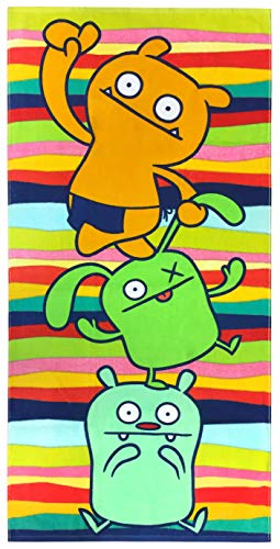 Jay Franco Ugly Dolls Kids Bath/Pool/Beach Towel - Featuring Wage, Ugly Dog, and OX - Super Soft & Absorbent Fade Resistant Cotton Towel, Measures 28 inch x 58 inch (Official Ugly Dolls Product)