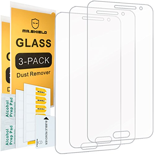 [3-PACK]- Mr.Shield Designed For Samsung Galaxy J36V / J3 / J3 V [NOT FIT for Galaxy J3V 2018 Version] [Tempered Glass] Screen Protector [0.3mm Ultra Thin 9H Hardness 2.5D Round Edge] with Lifetime Replacement