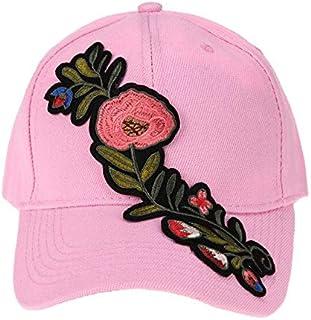 BEESCLOVER Casual Baseball Cap Flower Embroidery Hat Cap Pink Black White Snapback Hats Women Men Groupbuying Price
