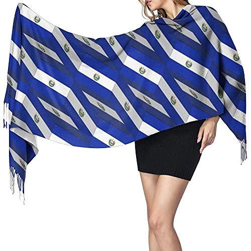 Regan Nehemiah El Salvador vlag 3D kunst patroon dames winter warme sjaal mode lange grote zachte kasjmier sjaal wrap sjaals