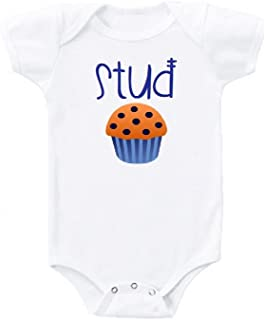 Stud Muffin Cute Funny Baby Onesie Gift Novelty Tshirt Costume Babies Bodysuit