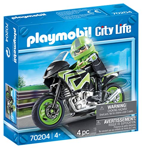 PLAYMOBIL PLAYMOBIL-70204 City Moto+Motorista