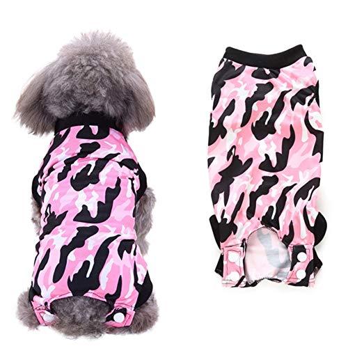 Openg Hundebody op Body für Hunde Katzenkleidung Nur für Katzen Medizinische Hundeweste Chirurgische Weste für Hunde Camouflage-pink,M