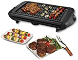 LEGENDARY-YES Electric Indoor Grill Portable Smokeless Kitchen Non Stick Cooking BBQ Griddle