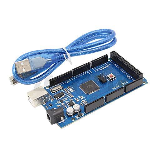 XBaofu 1Pc MEGA 2560 R3 AVR USB-Board + USB-Kabel for Arduino 2560 MEGA2560 R3 for 3D-Drucker