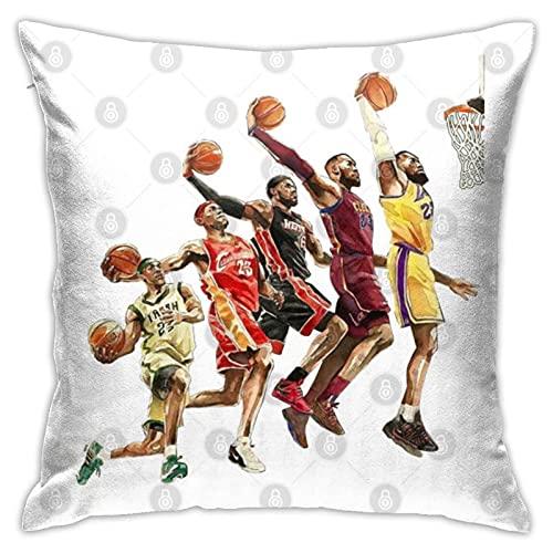 La evolución de Lebron James - Nba Los Angeles Lakers Fundas de almohada