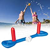 Inflatable Water Volleyball Kit Set Swimming Pool Floating Ball + Net Summer Outdoor