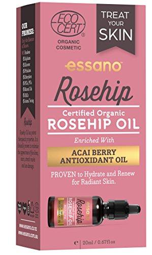Rosehip By Essano Huile de Rose Musquée à la Baie d'Acai Antyoxydante 20ml