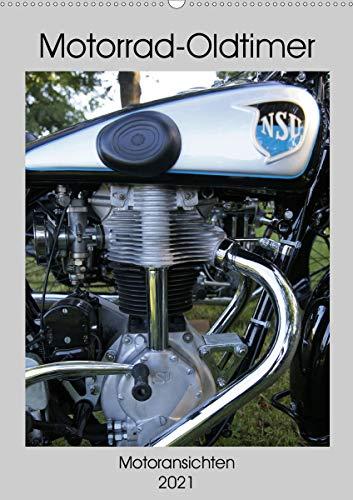 Motorrad Oldtimer - Motoransichten (Wandkalender 2021 DIN A2 hoch)