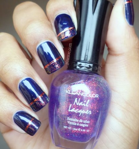 KleanColor Nail Polish Lacquer Chunky Holo Bluebell Manicure Klean Color