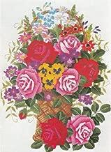 Tokyo Bunka Shishu 295 Roses Basket Japanese Punch Embroidery Kit