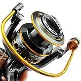 LITOSM Carrete De Pesca Reel de Doble Freno Spinning Reel Carrete de Pesca 3000 4000 5000 6000 Relación Engranaje 5.2: 1/5.0: 1 Roble Carretes De Lanzado (Spool Capacity : 4000 Series)