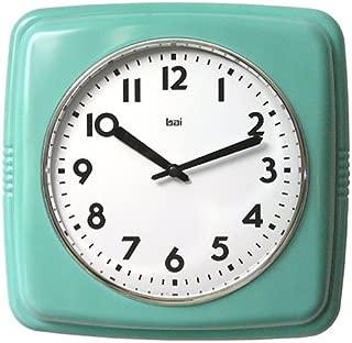 Bai Square Retro Wall Clock, Turquoise - 750.TU