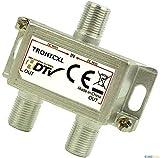 TronicXL Premium Antennenverteiler Verteiler Weiche Splitter F-Buchse zb für DVBT DVBC SAT Splitter Unicable Kabelfernsehen Unitymedia Vodafone Sky NetAachen Primacom Kabelfernseh Digital HD 3D 4K