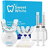 SweetWhite Teeth Whitening Kit, Professional Tooth Whitener with LED Light, 2 5ml Whitening Gel Syringes, 35% Carbamide...