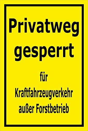 Melis Folienwerkstatt Schild Privatweg gesperrt - 45x30cm - 3mm Aluverbund – 20 VAR S00359-033-C