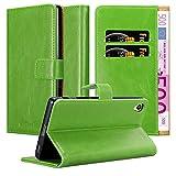 Cadorabo Funda Libro para Sony Xperia Z5 Premium en Verde Hierba - Cubierta Proteccíon con Cierre...