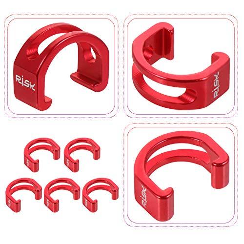 CLISPEED 5 Piezas de Aleación de Aluminio Rojo Metal C Clips Abrazaderas...
