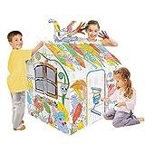 YUEHAPPY® Dibujo del Doodle 3D De Cartón Playhouse Casa Colorear Cubierta...