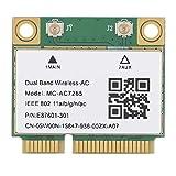 Scheda di Rete, Mini PCI-E Gigabit Scheda Adattatore di Rete Dual-Band per Bluetooth 4.2 Wireless WiFi MC ‑ AC7265 Adattatore di Rete Supporto per Desktop/Notebook
