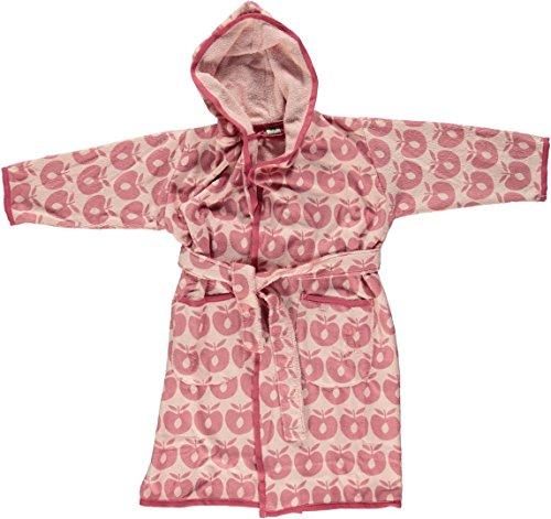 Smafolk Bademantel mit Apfelprint/silver pink Größe 98/104