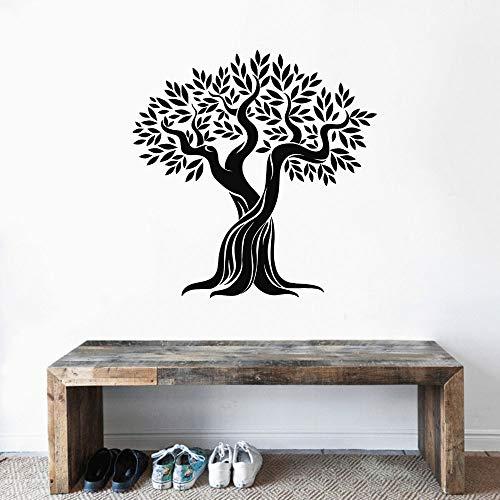 yaonuli Neu gestaltete Olivenbaum Wandtattoo Aufkleber Design Pflanze und Baum Aufkleber für zu Hause Schlafzimmer Kinderbett Dekoration 74x74cm
