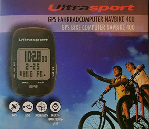 Summary Ultrasport GPS NavBike 400 Brújula multifunción USB reloj horario Transferencia de datos a través de USB