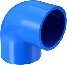 uxcell 32mm Slip 90 Degree PVC Pipe Fitting Elbow Coupling Adapter Blue 5 Pcs