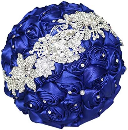 Royal Blue Satin Hair Flower  Royal Blue Flower Brooch  Flower Facinator  Wedding Flower  Bridal Hair Flower