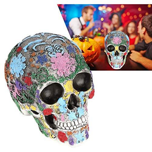 FOLOSAFENAR Modelo de cráneo de Resina, Regalos Decorativos Casa y Oficina Artesanías de cráneo aplicables Forma de cráneo para Oficina para Bar