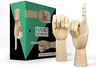 Wooden Hand Model Wood Drawing - 8