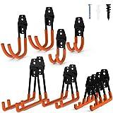 Intpro 12pack Steel Garage Storage Utility Double Hooks Organizer Heavy Duty Wall Mount Tool Holder...