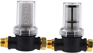 F Fityle 2 Pack 3/4inch GARDEN INLET FILTER, 100 Mesh and 40 Mesh