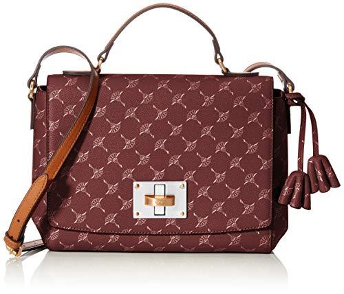 Joop! Schultertasche Cortina Maila aus Kunststoff Damen Handtasche mit Überschlag, Braun (Brown), 8x19x25 cm (B x H x T)