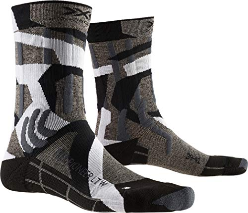 X-Socks Trek Pioneer LT Wmn, Calzini da Escursionismo Donna, Granite Grey/Modern Camo, 39-40