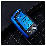 ZZJUN Xxjun Store - Funda de piel TPU para llave de coche para Seat Ibiza 6I FR 6J Ateca Altea Arona Toledo Leon 2 5F MK2 MK3 MK1 Key Fob Cover Accesorios (nombre del color: azul)