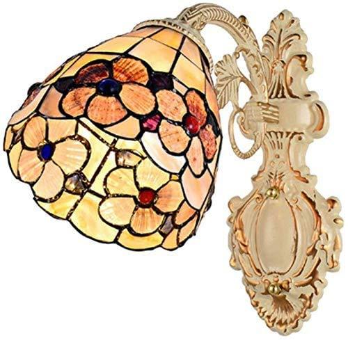 DALUXE Movimiento Art Nouveau lámparas procedimientos complejos vidrieras Tiffany lámpara de Pared Gran decoración de la habitación