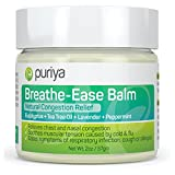 Puriya Chest Rub for Congestion Relief, Breathe Ease Balm with Plant-Rich Active Formula of...