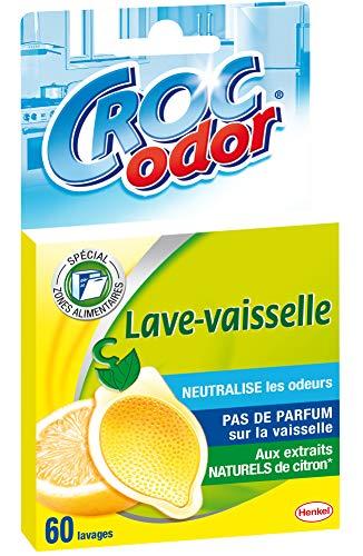 Croc'Odor Citron – Désodorisant pour Lave Vaisselle (20g) – Désodorisant Lave-vaiselle