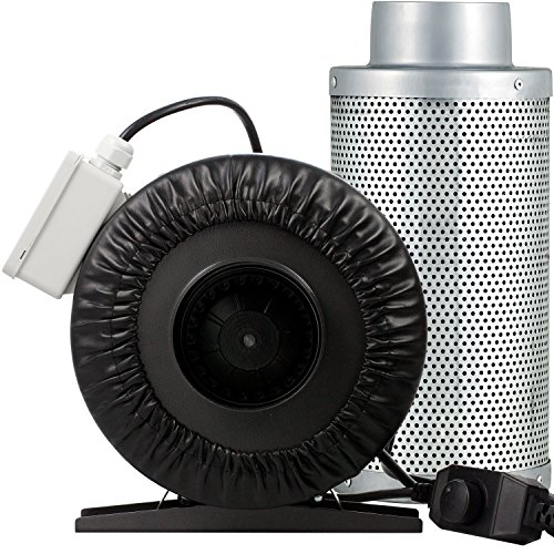 Fantastic Deal! Yield Lab 4 Inch 190 CFM Charcoal Filter and Duct Fan Combo Kit