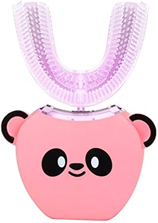 電動歯ブラシ 360°超音波ホワイトニング IPX7防水自動マウスクリーナー子供のための ピンク