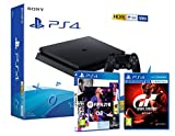 PS4 Slim 500Gb Negra Playstation 4 Consola + FIFA 21 + GT Sport Gran Turismo