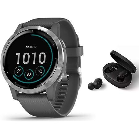 Garmin Vivoactive 4s Schlanke Wasserdichte Gps Fitness Smartwatch Mit Trainingsplänen Animierten Übungen Silber Grau Bt Headset Navigation