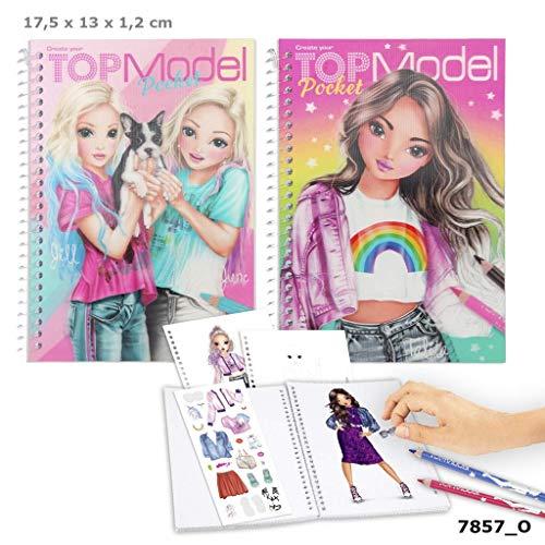 Depesche TOP Model 1 Pocket Malbuch mit 3D Cover Motiv Sortiert