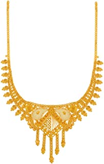 P.C. Chandra Jewellers 22k (916) Yellow Gold Necklace for Women