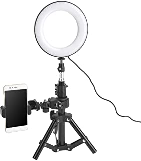 Serounder 10 inch LED Ring Light,3 Colors 3500-6000k Color Temperature Dimmable Fill Light Lamp with 1//4 Thread Interface and Phone Holder for Photography Shooting Metal