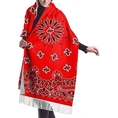 Red Bandana heren en dames Winter Long Cashmere Scarf sjaal