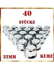 Easy Link Wieldoppen, 40 x 32 mm, chroom, kunststof, SW32 vrachtwagenaanhanger
