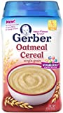 Gerber, Oatmeal Cereal, Single Grain, 8 oz (227 g)